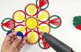 利用手環圈和毛線DIY美麗吊飾