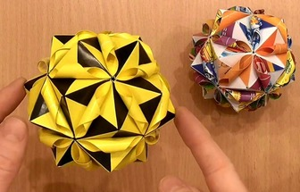 DIY好看的组合纸花球