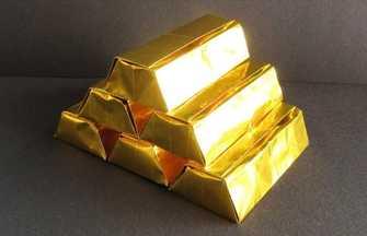 怎么折纸做金光闪闪的大金砖