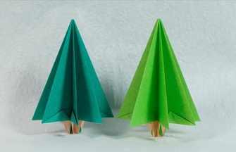 折纸做一棵郁郁葱葱的大树