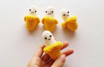钩针编织俏皮可爱小香蕉玩偶