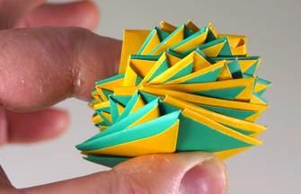 DIY解壓作品折紙旋轉紙片玩具