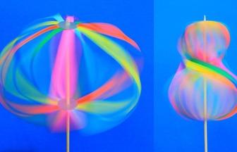 自制简单炫酷旋转彩色残影玩具