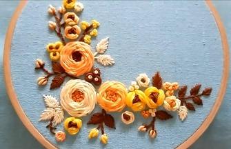 手工绣花的技巧,如何刺绣漂亮的玫瑰花