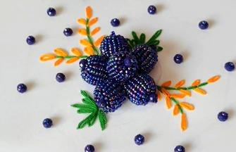 手工刺繡作品,如何串珠刺繡立體花