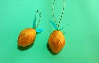 创意手工DIY,甜甘橘模型的折叠方法