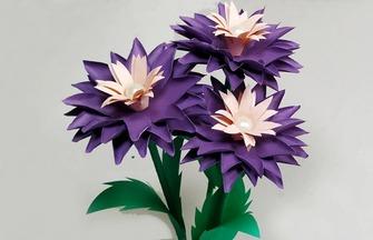 手工纸艺教程,一个用纸做花的方法