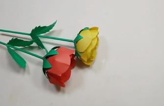 DIY纸艺作品,如何制作漂亮的玫瑰花