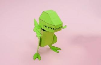 创意手工DIY,如何拼装一只可爱的恐龙模型