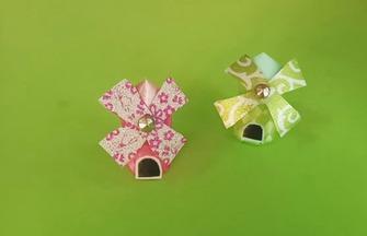 创意手工DIY,用彩带折叠风车屋模型的方法