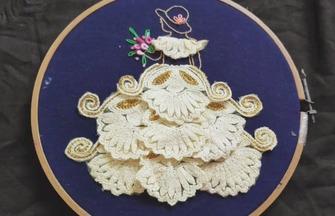 刺繡工藝,如何刺繡立體的少女圖案