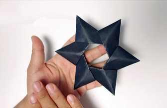教你折纸炫酷的暗影飞镖