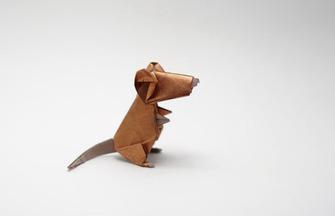 动物折纸DIY,如何用单张纸折小老鼠