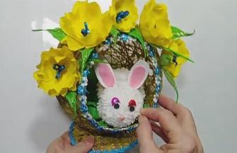 创意手工DIY,如何制作可爱的兔窝装饰品