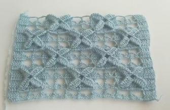 鉤針編織的技巧,十字花的鉤織方法
