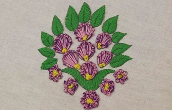 简单的衣服绣花,简单小花的刺绣方法