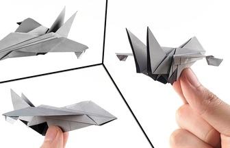 教你折纸帅气的超音速喷气式战斗机