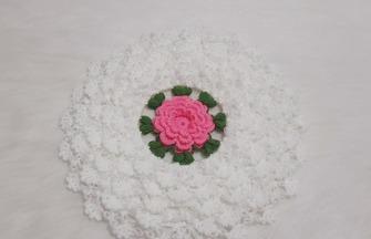 钩针编织教学,花朵坐垫的钩织方法