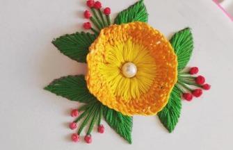 手工刺绣作品,如何用小木板刺绣花朵