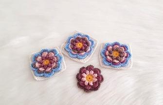 钩针编织的技巧,如何钩织漂亮的彩色花朵