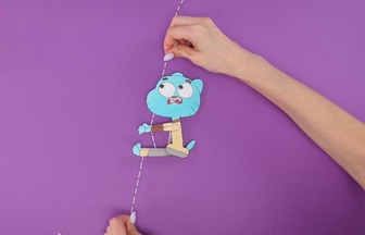 创意手工DIY,如何制作好玩的爬绳小玩具