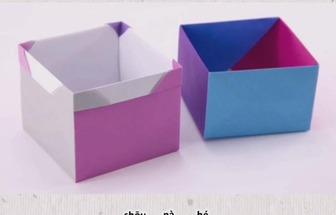 教你如何用紙折疊收納盒
