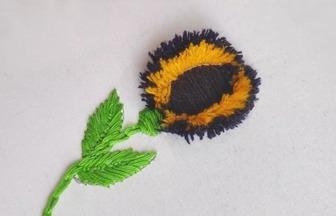 手工刺绣作品,如何利用勺子绣花朵