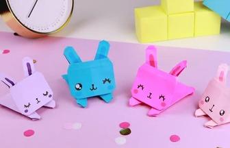 手工折紙作品,如何折疊可愛的小兔子